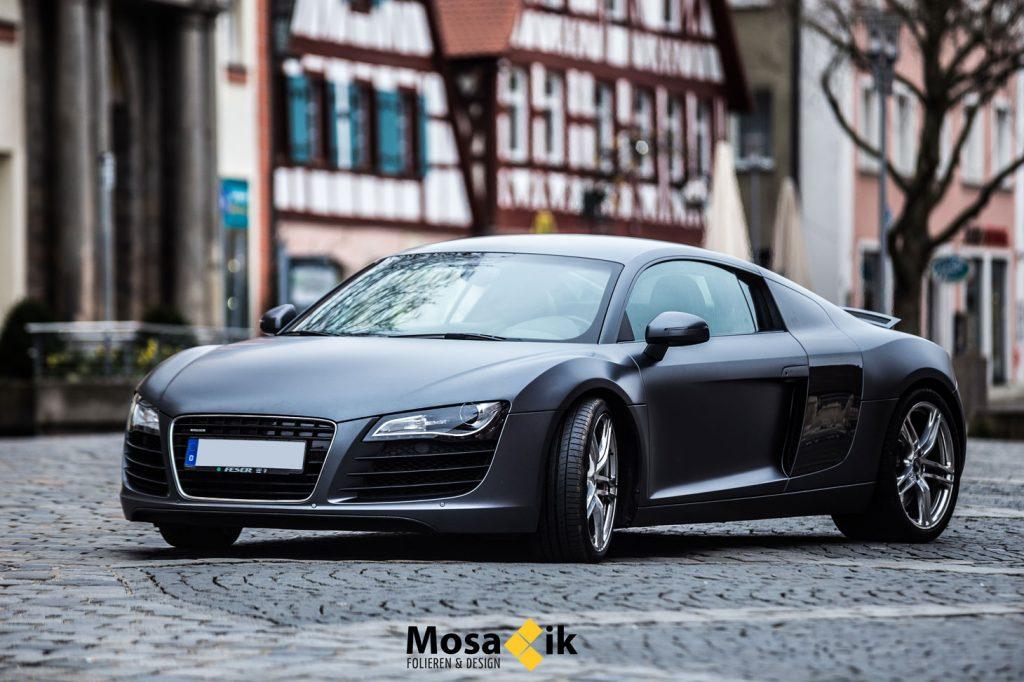 Audi R8 – Holzkohle matt Metallic